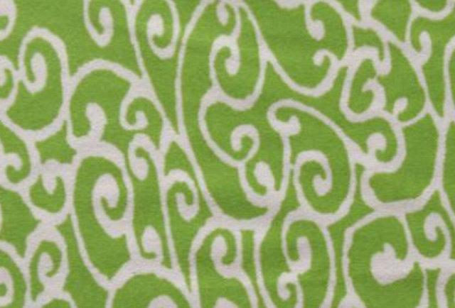 Green Tea - White Arabesque Scroll Print