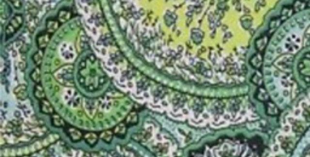Shades of Green Medallion Print