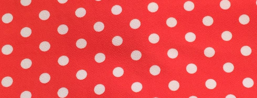 Coral White Polka Dot Textured Liverpool