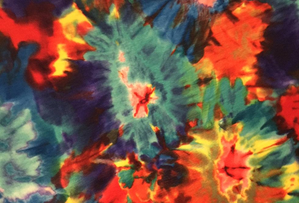 Summer Splash Tie Dye on Stretch Velour