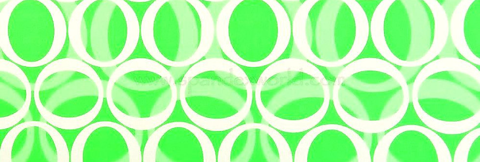 Lime Green & White Circles Abstract Print Fabric Choice