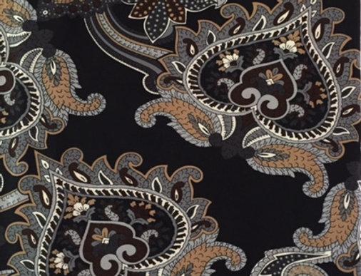 Black - Tan- Gray Paisley Fabric Choice