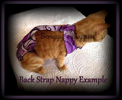 Back Strap Cat Nappy Diaper
