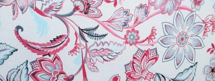 White-Pink-Blue-Gray-Green Floral Fabric Choice