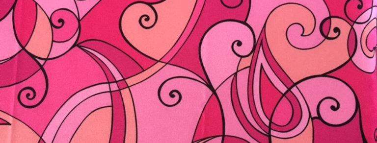 Shades of Pink Swirls Fabric Choice