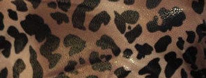Brown & Black Foil Animal Print Fabric Choice