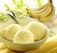 Helado de plátano