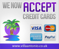 Villa Antonio Lanzarote accepts credit cards
