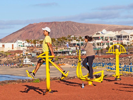 Keeping fit in Lanzarote