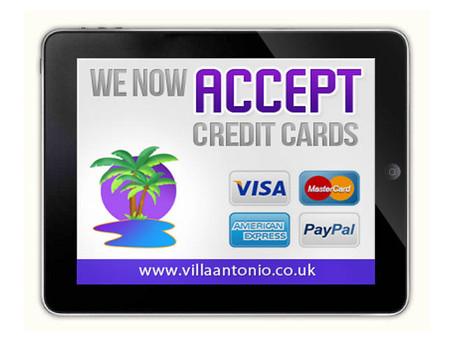 No charge to use Credit cards at           Villa Antonio Lanzarote