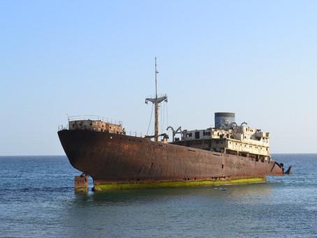 A shipwreck in Lanzarote
