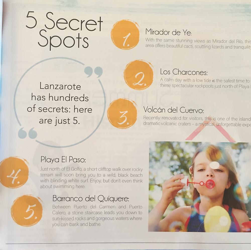 5 secret places in Lanzarote