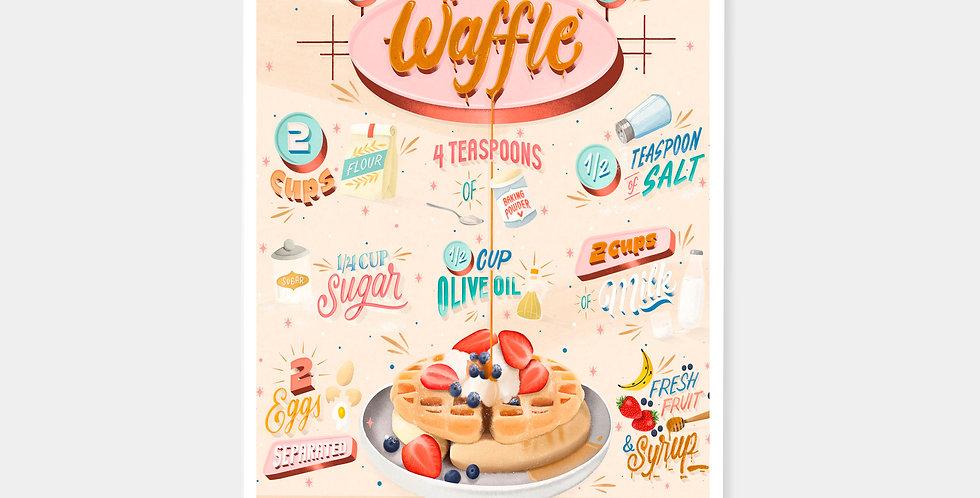 Prints - Receta Waffle Belga