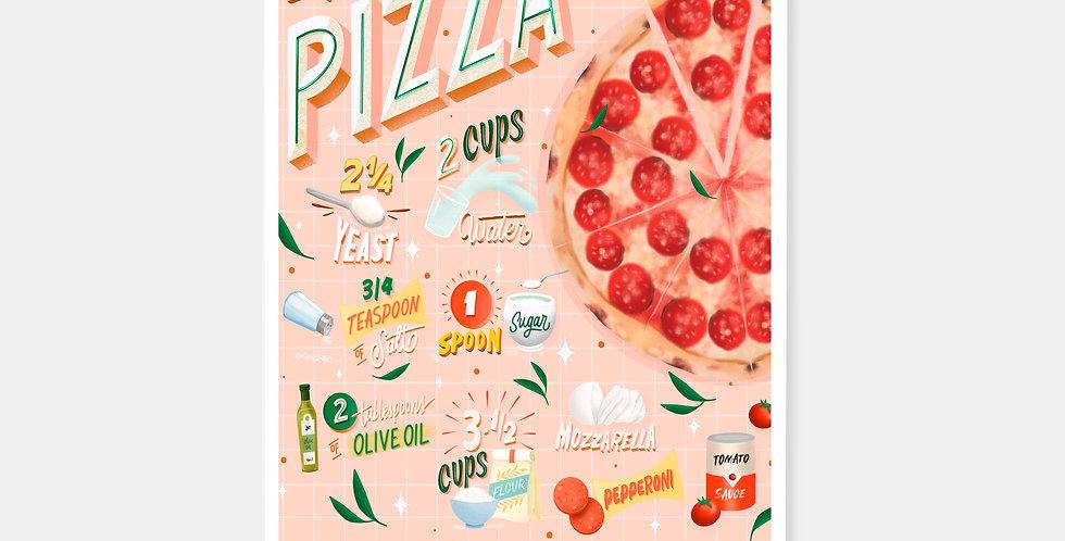 Prints - Receta Pizza