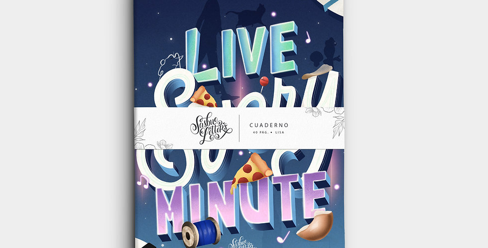 Cuaderno - Live Every Minute