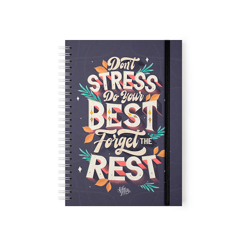 Don't Stress Do Your Best Forget The Rest -  Argollado
