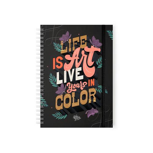 Life Is Art Live Your In Color - Argollado