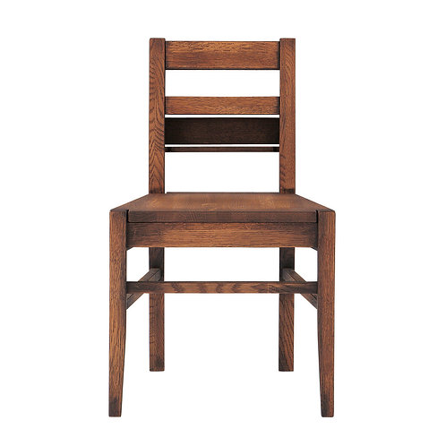 Whisky Oak Dining Chair With Book Rack