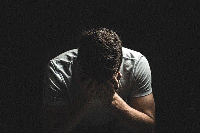 Distressed man