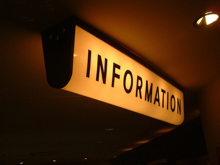 lighted information sign