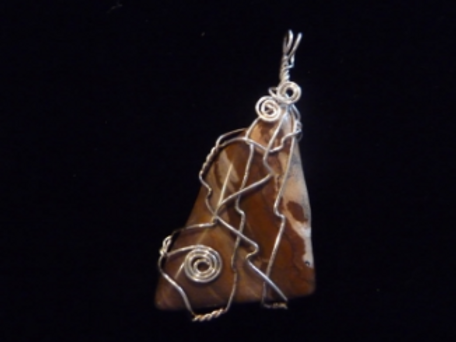 Wire Wrapped Pendant - Multi-Brown Agate
