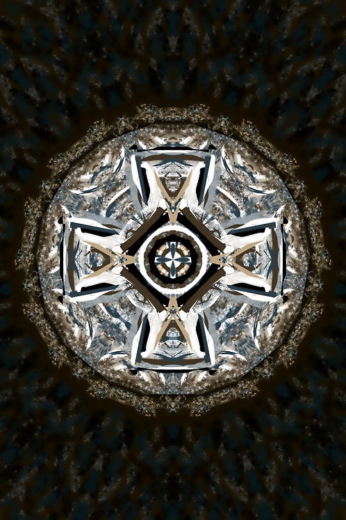 "Reiki Infused Mandala Tapestry - Size M - 22"" x 33"""