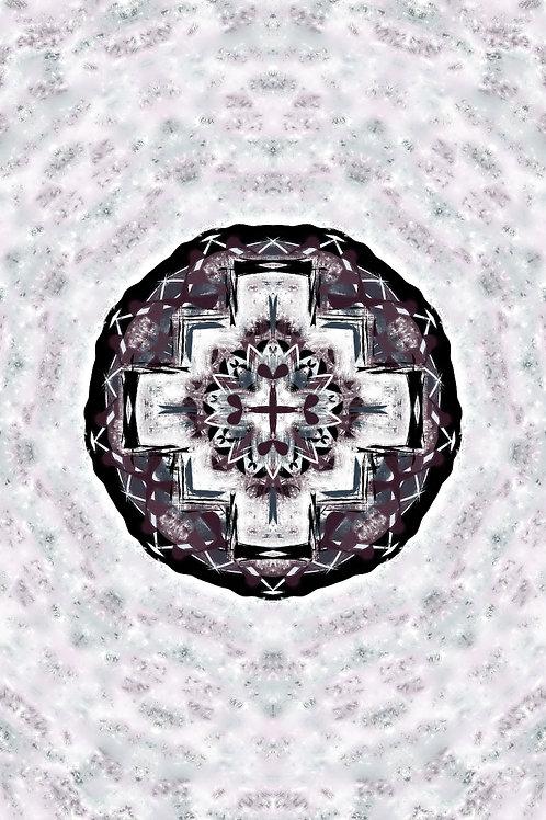 """Reiki Infused Mandala Tapestry - Size S - 16"""" x 27"""""""