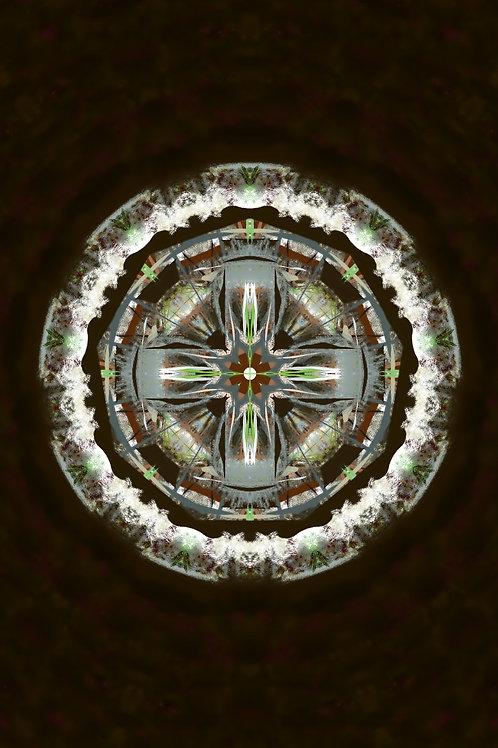 """Reiki Infused Mandala Tapestry - Size S - 17"""" x 23"""""""