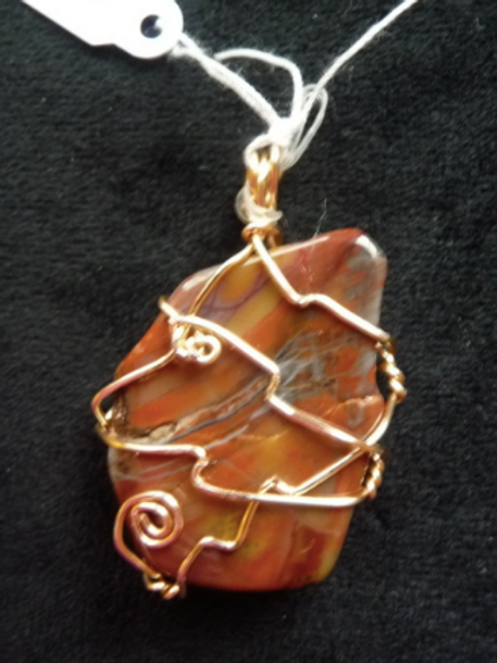 Wire Wrapped Pendant - Fire Agate