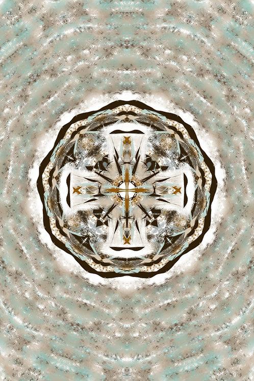 "Reiki Infused Mandala Tapestry - Size M - 28"" x 30"""