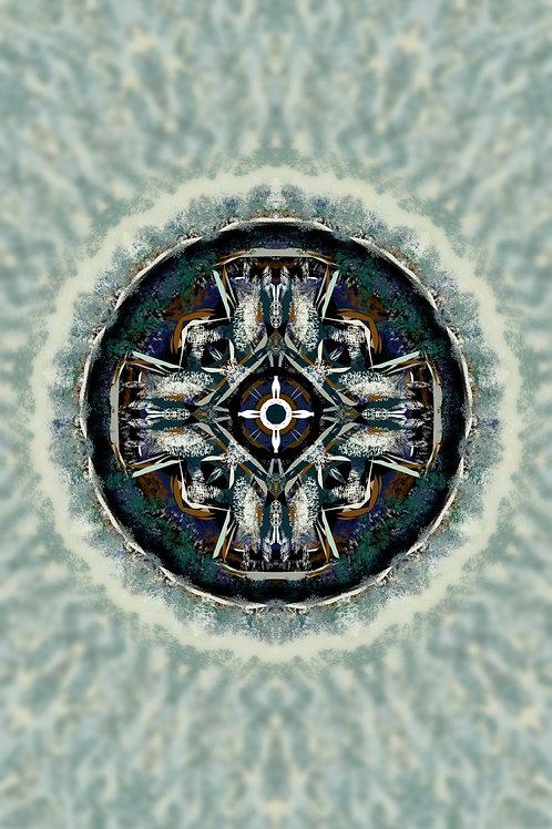 """Reiki Infused Mandala Tapestry - Size S - 15"""" x 26"""""""