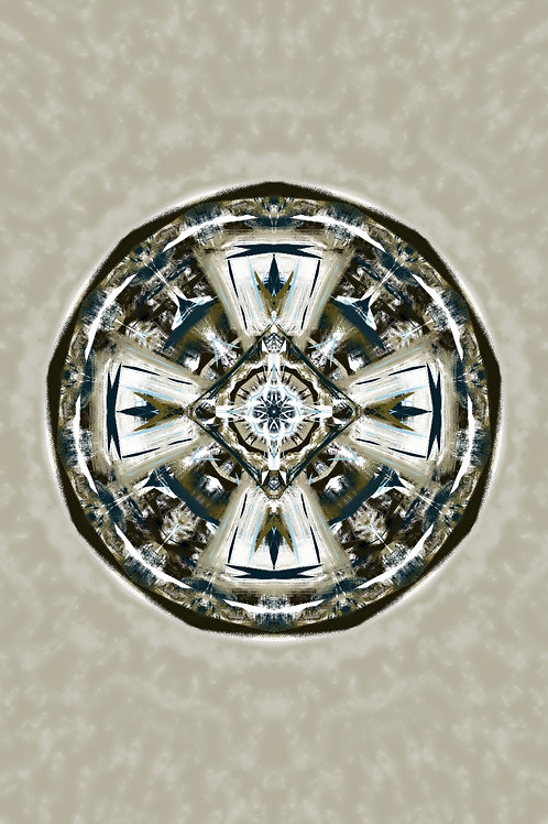 """Reiki Infused Mandala Tapestry - Size S - 15"""" x 24"""""""