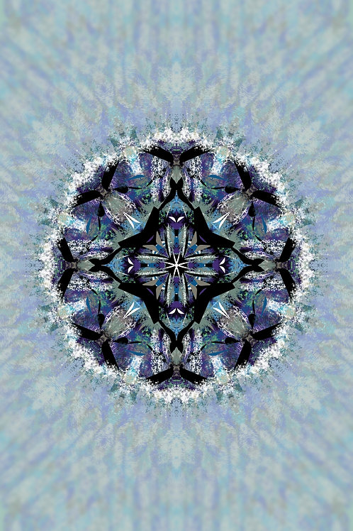 """Reiki Infused Mandala Tapestry - Size S - 16"""" x 26"""""""