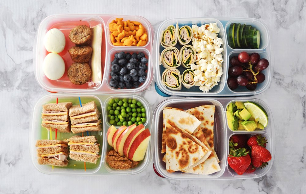 Lunchbox réalisées à l'aide du Meal Prep