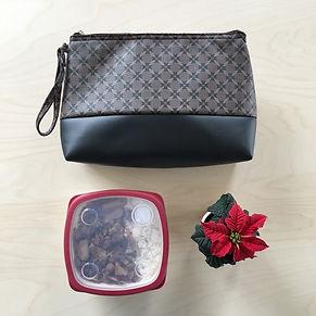 Lunchbag design, lunchbox tendance, fashion, luxe, féminin, discret. Pochette à repas Fashionista