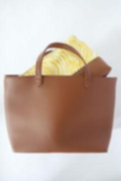 Duo Marron Sac lunchbag LE PANIER, pochette à repas isotherme, étanche, design et jolie