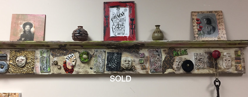 O126 - Upcycled Decorative Wall Shelf