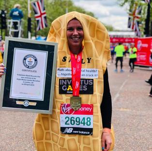 Fastest Marathon dressed as a nut