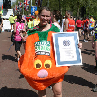 Fastest Marathon dress as a fruit