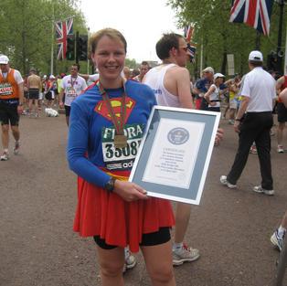 Fastest Marathon dressed as a superhero