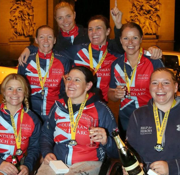 Fastest womens disabled relay to complete the Enduroman Arch to Arc Triathlon