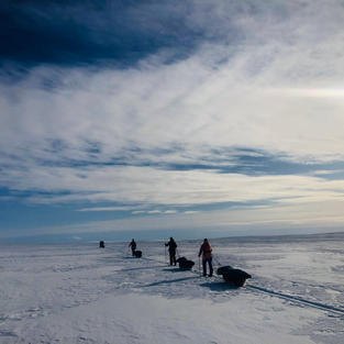 First all female British team to ski across the Finnmark Plateau in the Arctic Circle