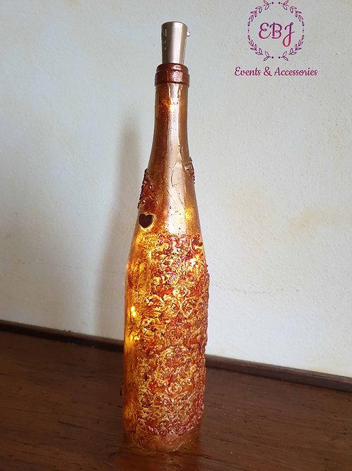 Bottiglia con luci Love
