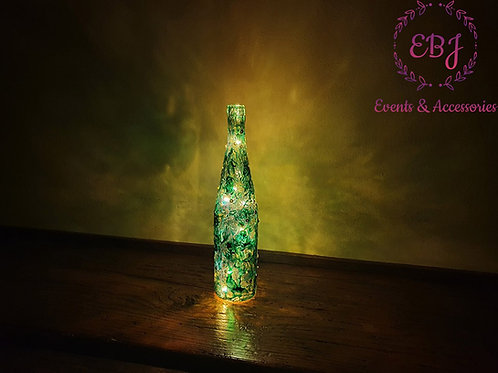 Bottliglia Decorativa con luce caldo a LED / Verde, Trasparente