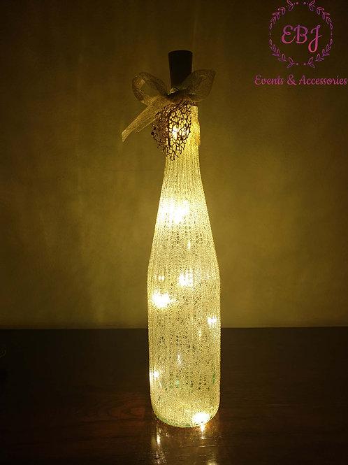 Bottiglia Decorativa con Luce a LED / Tubolare - oro