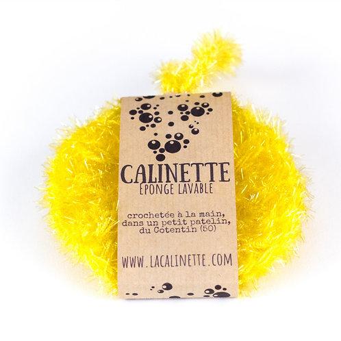 """Eponge lavable """"la Calinette"""" jaune"""