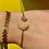 Thumbnail: Bracelet rigide lune paillette or et noir
