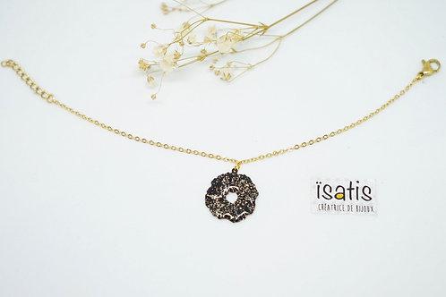 Bracelet Noir&Paillettes 03