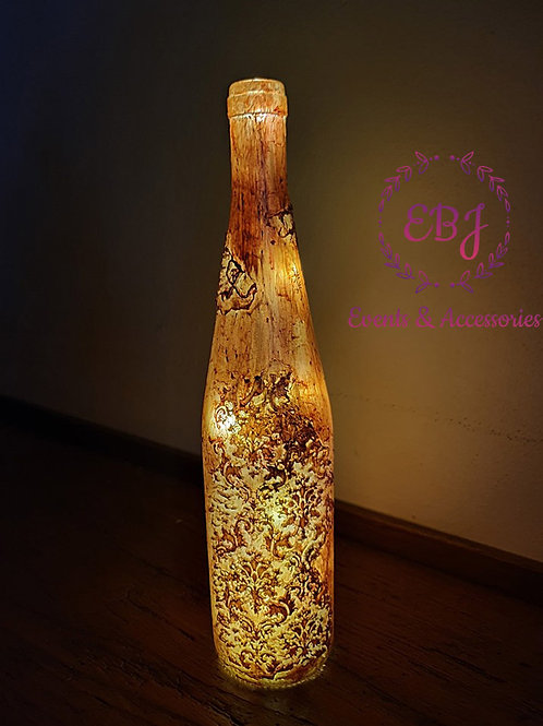 Bottiglia Decorativa con Luce calda a LED / Oro, Trasparente