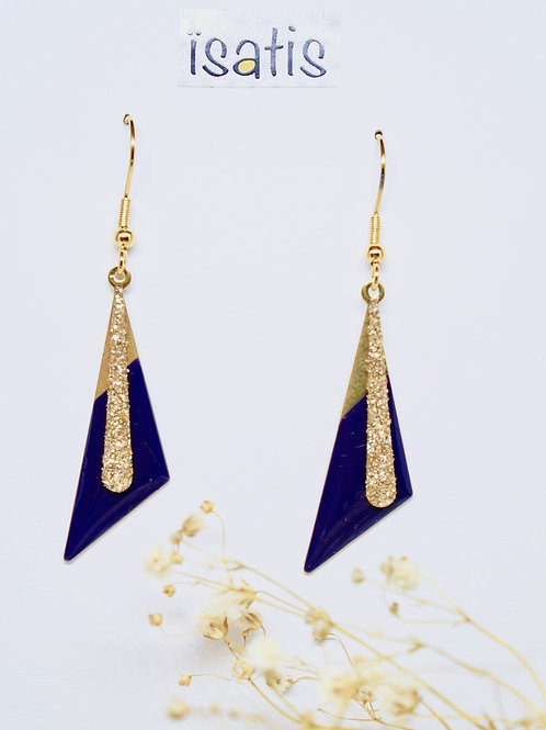 Boucles d'oreilles Triangles Marines